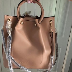 NWT  Anthropologie Bag - Nude Vegan Leather Tote